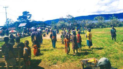 Rampungkan Fisik Gereja di Dogiyai, Jemaat Gelar Pertandingan dan Bazaar Murah