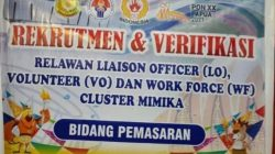 Sub PB PON Mimika Buka Pendaftaran Relawan PON XX Papua