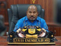 Gubernur Enembe Sampaikan Duka Terkait Insiden Pegunugan Bintang