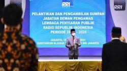 Lantik 5 Dewas LPP RRI, Menteri Johnny Plate Dorong Perluas Jangkauan Informasi Publik