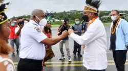Menteri Komunikasi dan Informatika Johnny G Plate Resmikan BTS 4G di Papua Barat